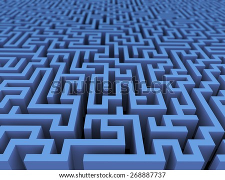 3d rendering of endless challenge labyrinth maze - stock photo