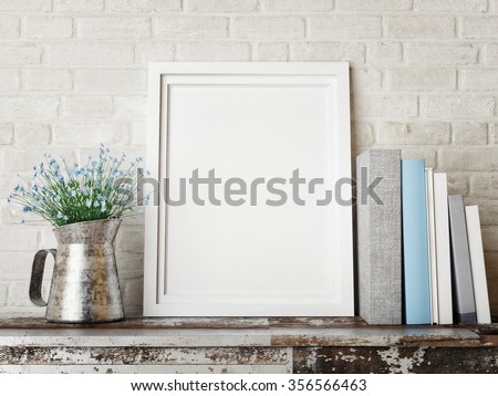 3D rendering of frame, hipster concept - stock photo