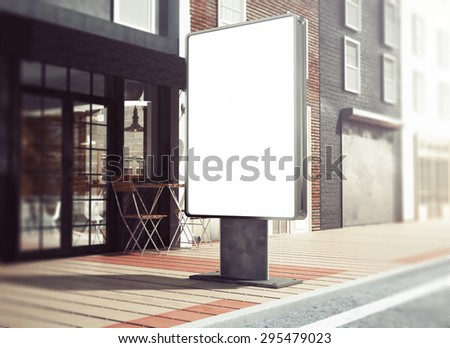3d rendering of lightbox mockup - stock photo