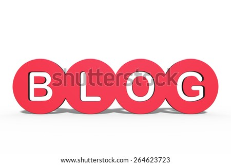 "3D rendering of the word ""Blog"" / Blog - stock photo"