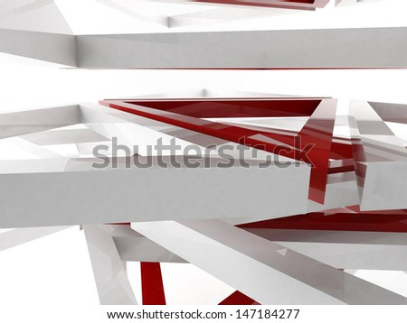 3D rendering of triangles - stock photo
