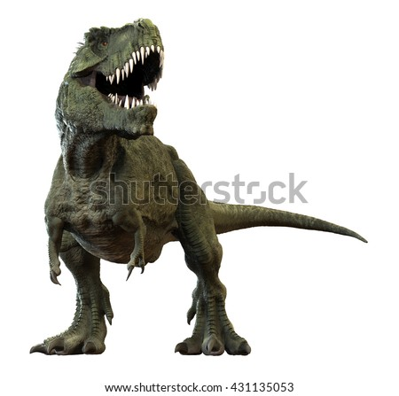 3D rendering of Tyrannosaurus Rex. - stock photo