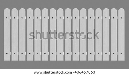 3d rendering of white wooden fence isolated over grey background - stock photo