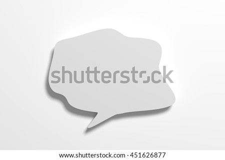 3d rendering speech bubble on white background.Isolated. - stock photo