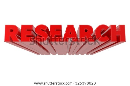 3D RESEARCH word on white background 3d rendering - stock photo