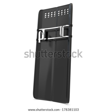 3d riot police shield on white background - stock photo