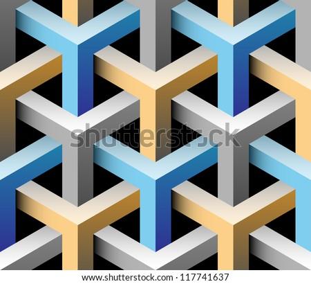 3d seamless background illustration - stock photo