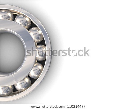 3d Self-aligning ball bearing - stock photo