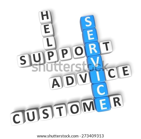 3D. Service, Customer, Support. - stock photo