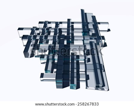 3D Shape  - stock photo
