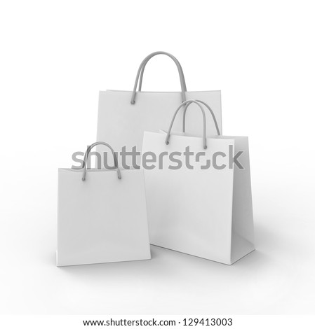 3d shopping bag. 3d render - stock photo