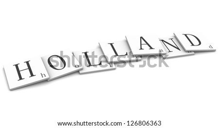 3D Signs word: Holland - stock photo