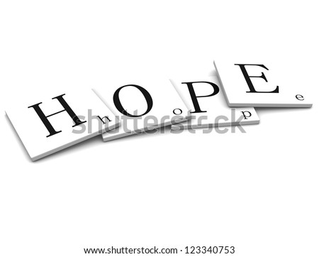 3D Signs Word hope - stock photo