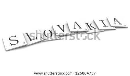 3D Signs word: Slovakia - stock photo