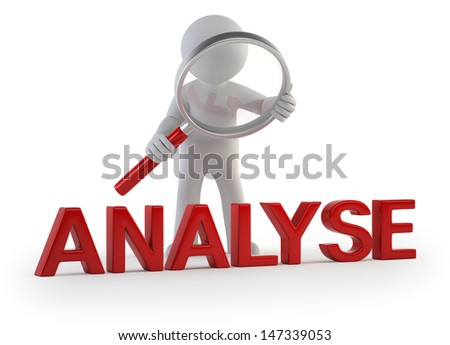 3d small people - analysis - stock photo