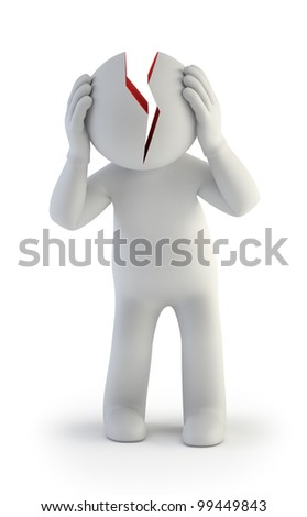 3d small people - stress - stock photo