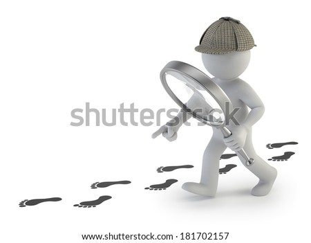 3d small people - super sleuth - stock photo