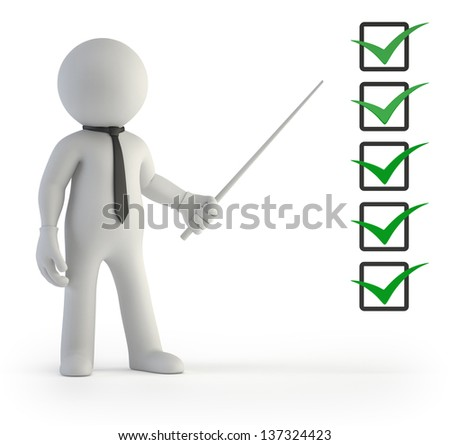 3d small people - To do list - stock photo