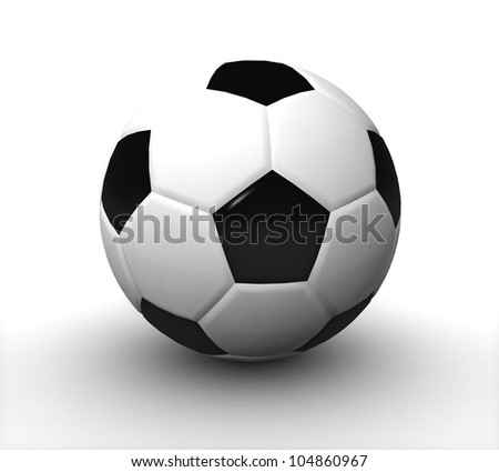 3d Soccer ball - stock photo