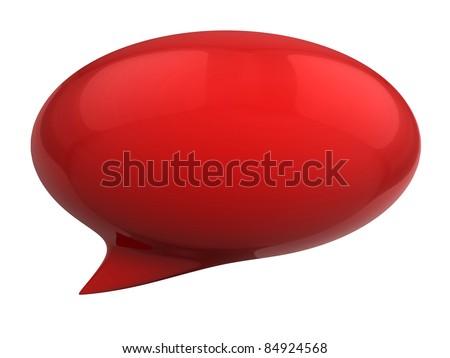 3d speech bubble - stock photo