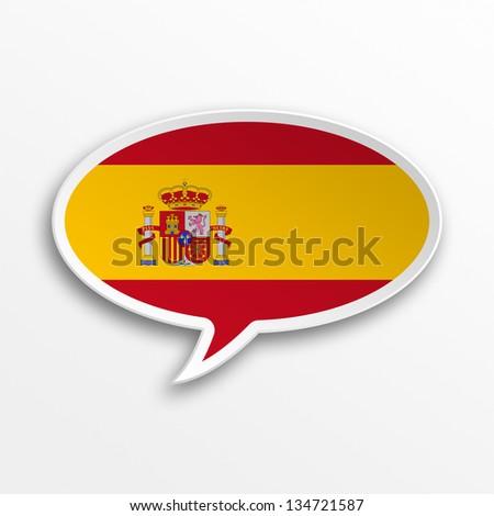 3d speech bubble - Spain - stock photo