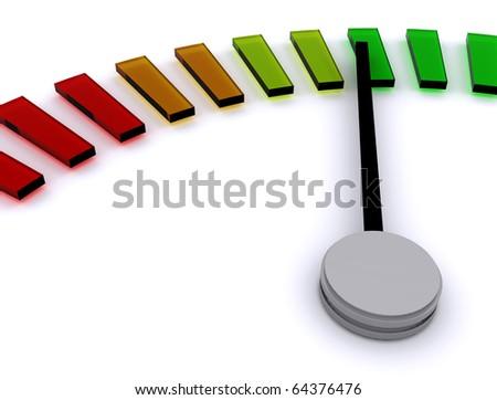 3D Speedometer - stock photo