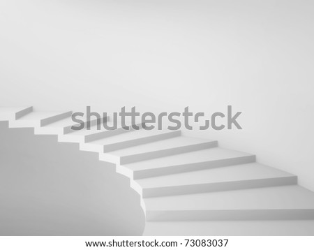 3d Spiral Staircase - stock photo
