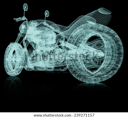3d sport bike background - stock photo