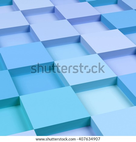 3d square mosaic. 3d rendering background. - stock photo