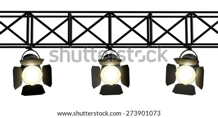 3D. Stage, Spotlight, Stage Light. - stock photo