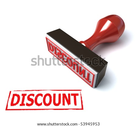3d stamp discount - stock photo