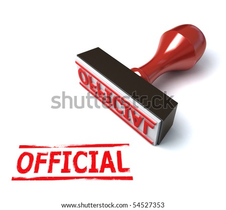 3d stamp official - stock photo