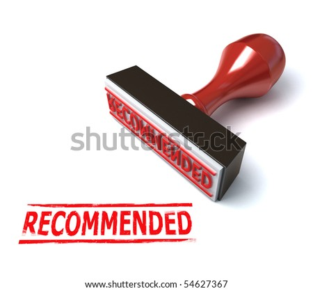 3d stamp recommended - stock photo