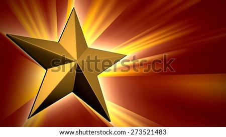 3D. Star, Star Shape, Backgrounds. - stock photo