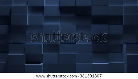 3D Stylish Blue Metal Background - stock photo