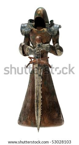 3d swordsman isolated - stock photo