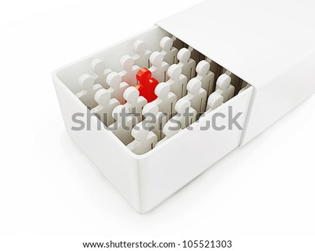 3d team isolated on a white background - stock photo