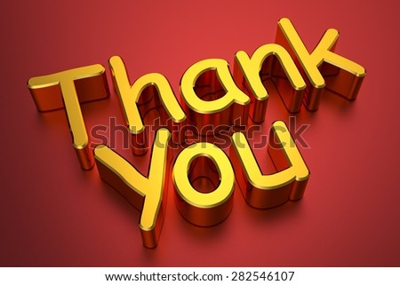 3d Thank You - stock photo