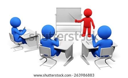 3D. Training, Presentation, Three-dimensional Shape. - stock photo
