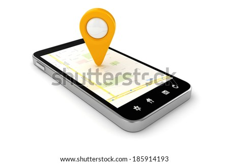 3d travel and navigation planning, concept - stock photo