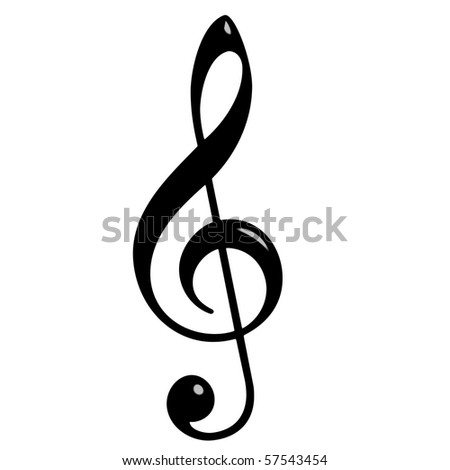 3d Treble Clef - stock photo