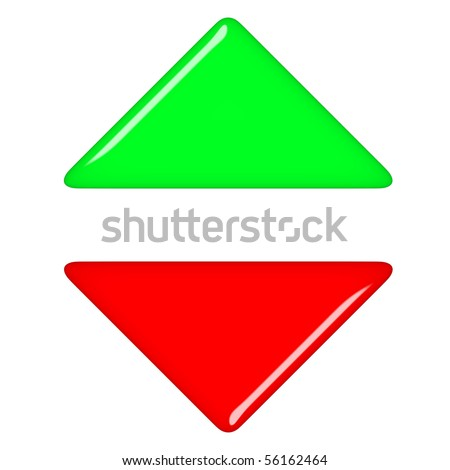 3d up and down arrows - stock photo