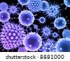 3d virus - stock photo