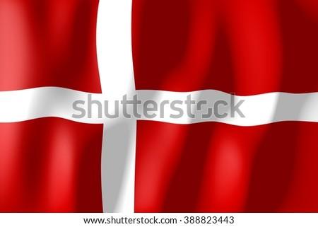 3D weaving flag concept - Denmark. - stock photo