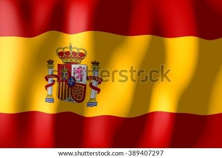 3D weaving flag - Spain. - stock photo