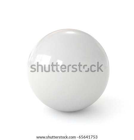 3d white ball isolated on white background - stock photo