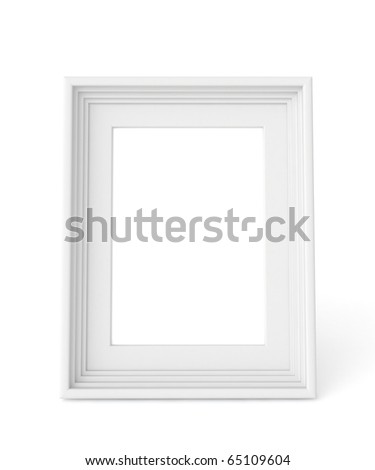 3d white frame ready for your graphic - stock photo