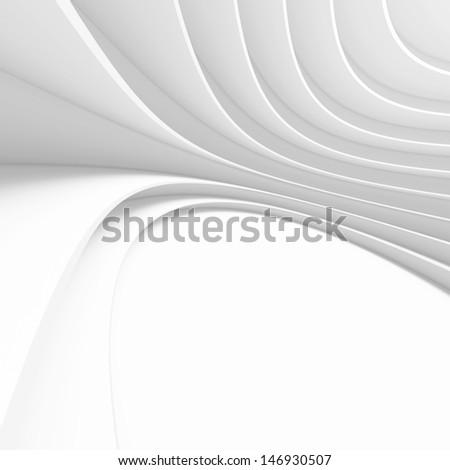3d White Modern Building Concept - stock photo