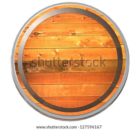 3d Wooden barrel - stock photo