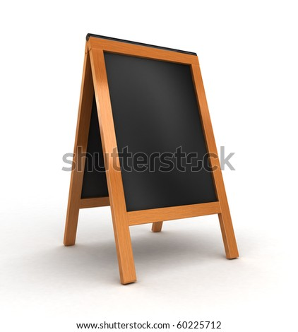 3d wooden board isolated - stock photo